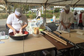 Watch your soba being freshly made.