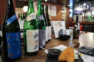 Sake selection – over 60 to choose from!