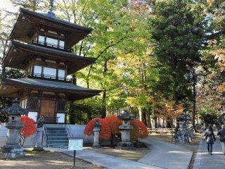 Three tiered pagoda