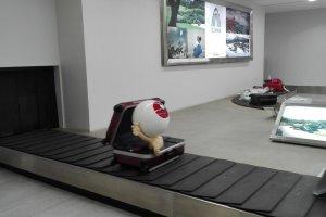 Băng chuyền hành lý ở sân bay Yonago