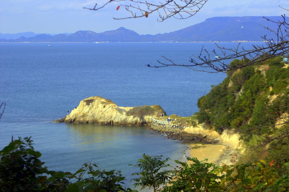 The cape, Nagasaki no Hana, on the far north side of the Yashima Plateau