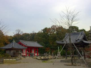 The grounds of Yashima Temple, number 84 of the Shikoku 88 Temple Pilgrimage