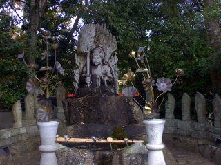 A statue of the garden diety, Fudo Myo