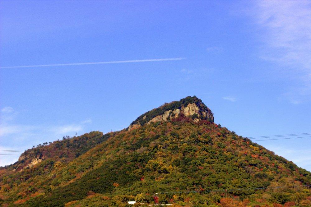 Yashima dominates the skyline in West Takamatsu