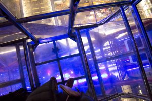The glass capsule is great fun to ride too because you can see right below you