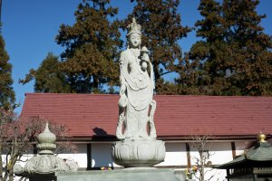 A statue outside the main hall