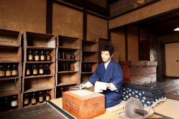 Recreation of a pharmacists at the Museum of Commercial and Domestic Life