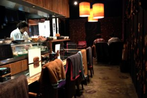 Smooth jazz sounds make this a great place to escape the crowds at Omotesando