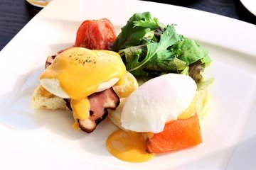 The breakfast buffet and eggs benedict are second to none