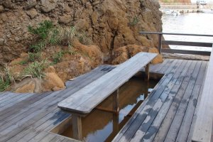 The foot bath at Matsugashita-Miyabi-yu