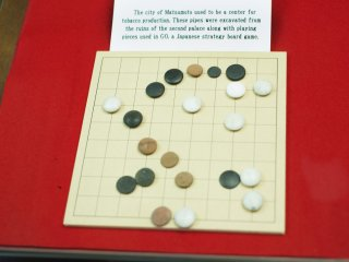 Pieces from a Japanese strategy board game