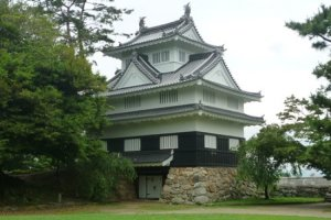 Yoshida Castle from within the castle grounds