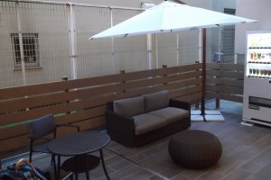 The little outdoor terrace