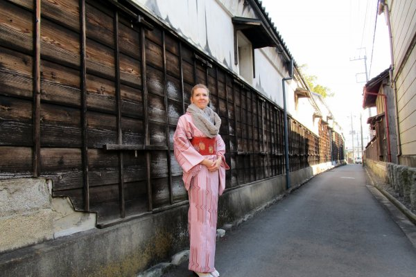 The tiny streets of Honcho make the perfect backdrop for photos