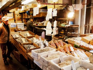Around 2000 tons of seafood goes through the market each day