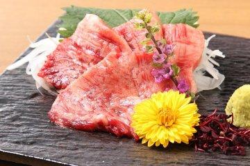 Basashi - raw horse sashimi