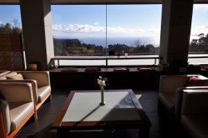 Cà phê ngâm chân và phòng ngồi chơi ở khu tiền sảnh