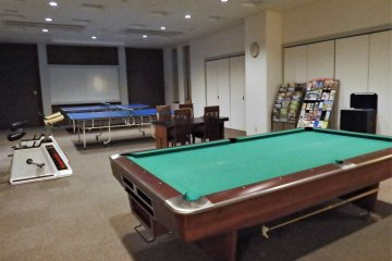 Play some pool or ping pong in the activity room