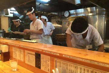 Watch the staff prepare your order.