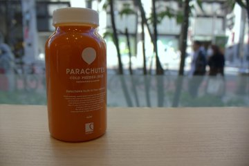 Fresh, cold pressed juice on the first floor of Marui department store