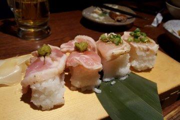 Raw Chicken Sushi