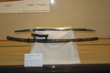 Swords displayed in museum