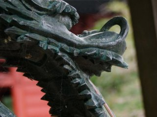 The temple's beautiful dragon