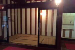 A tatami room inside the store house