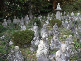 A small part of the temple's statue population