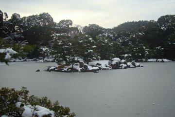 얼어버린 연못