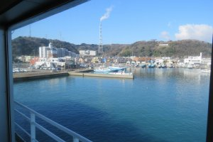 View of Kirihama Port from Ferry