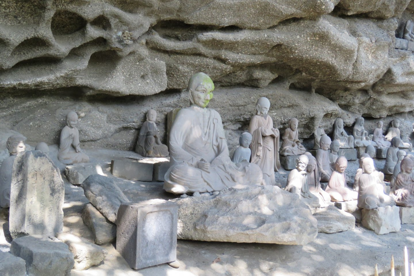 Some of the 1500 Tokai Arhats statues