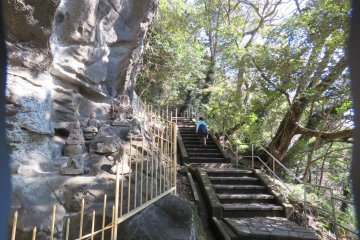 Heading back up the endless stairway