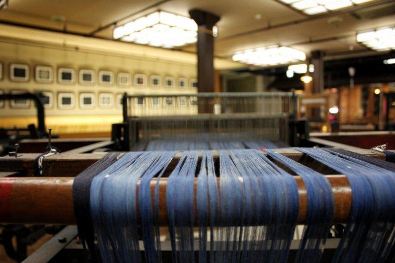 A working loom at the Iyo-Kasuri Folk Craft Hall