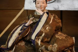 One of the many dolls on display