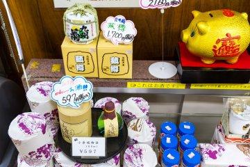 Castle souvenirs include local sake