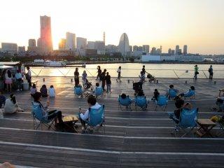 My favorite view of Yokohama from Osanbashi Pier