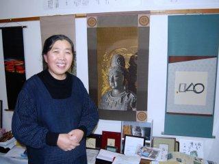 Mrs. Chonan is a weaver, a restaurant proprietress and a farmer