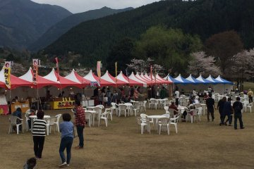 Drop in to one of the various food stands