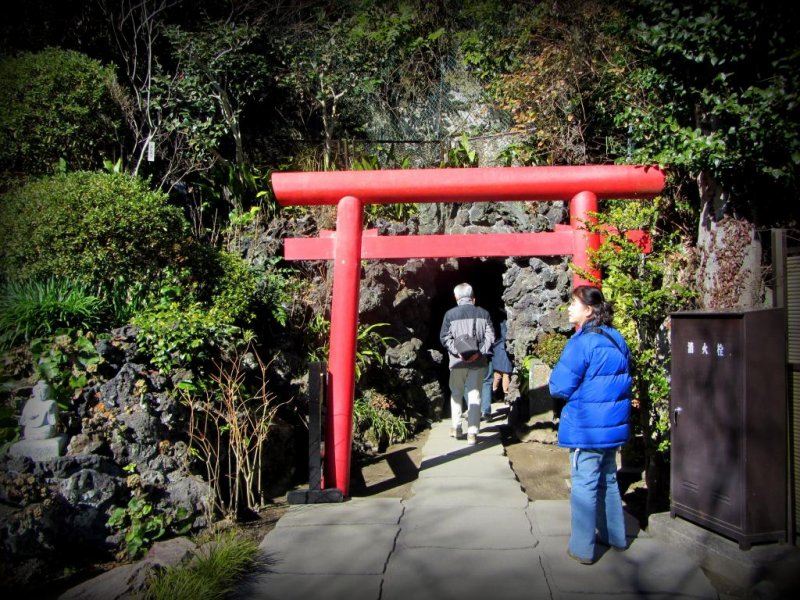 The entrance to the cave is easy to overlook