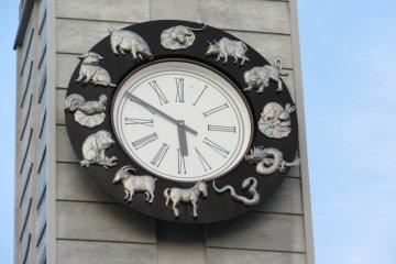 Tượng 12 con giáp ở thị trấn Narita