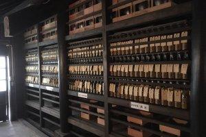 Bottles of Sake Ageing at Ozawa Brewery