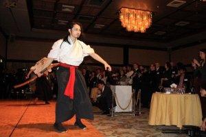 Sword performance artists Kamui