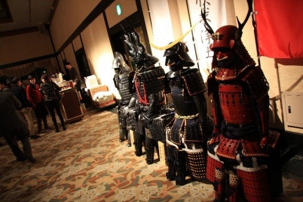 Samurai armors on display