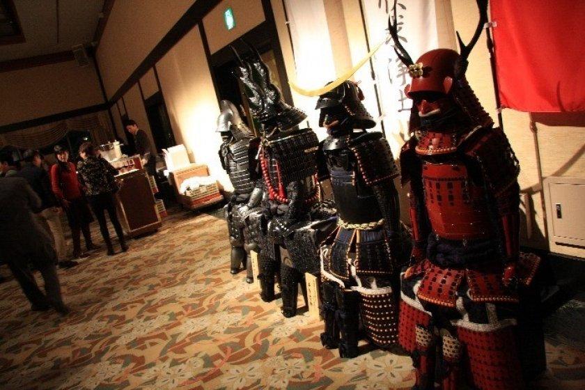 Samurai armors on display