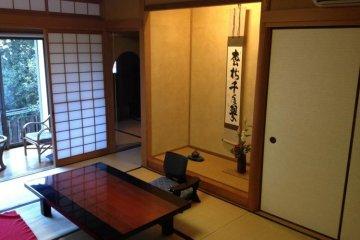 <p>ห้องแบบญี่ปุ่นดั้งเดิมในวิลล่าส่วนตัว</p>