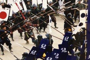 Une simulation de combat de samouraï