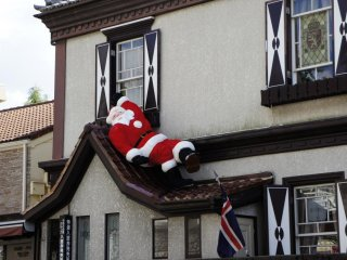 A very relaxed Santa Claus