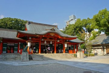 Ikuta Shrine during the day