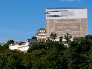 El castillo Himeji envuelto en una coraza temporal